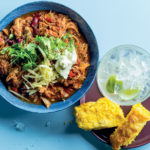 Turkey-and-bean chilli with avocado salsa