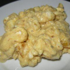 Samp mayo curry peach salad