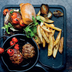Virgil Kahn's beef burger with double-fried, hand-cut chips