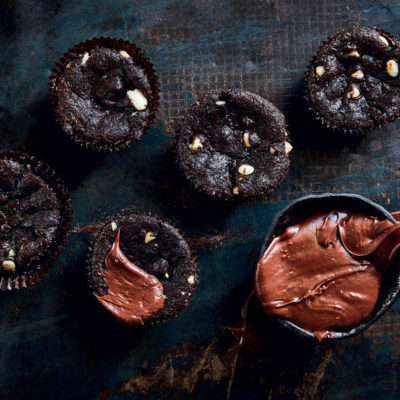 Chocolate chunk brownie cupcakes