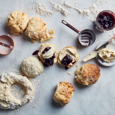 Scones with whipped vanilla butter