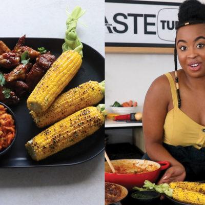 Watch: The Lazy Makoti's sticky ribs, chakalaka and plaited corn