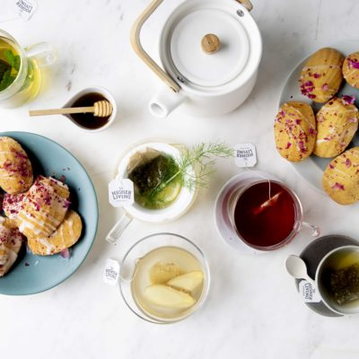 Berry tea-infused madeleines