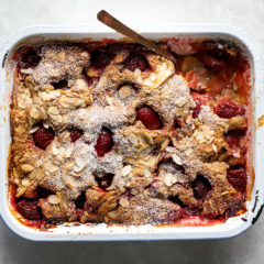 Strawberry-and-apple cobbler