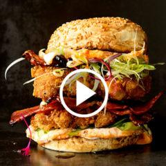 Watch: crunchy chicken katsu burger