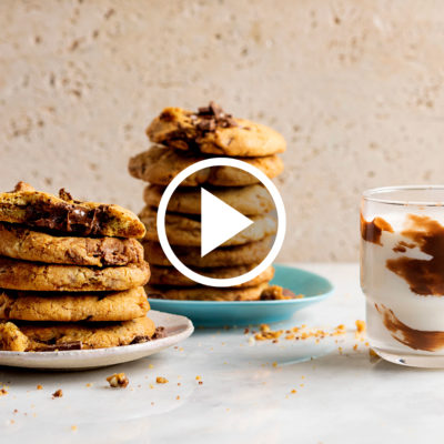 Watch: double-trouble chocolate-chip cookies