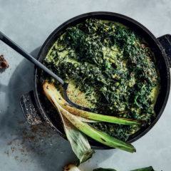 The best-ever triple green creamed spinach