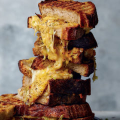 Three-cheese toastie