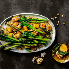Buttered gnocchi with spring greens