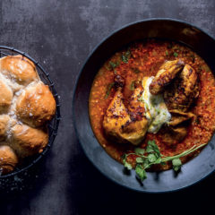 Easy masala chicken soup with buckwheat and turmeric labneh
