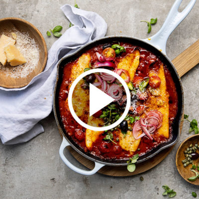 Watch: 30-minute Puttanesca baked fish