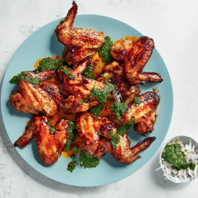 Coconut-and-Szechuan chicken wings