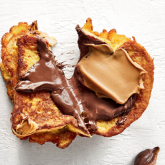 Nutella-and-peanut butter French toast