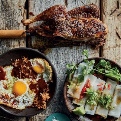 Eggs with lom sak sauce