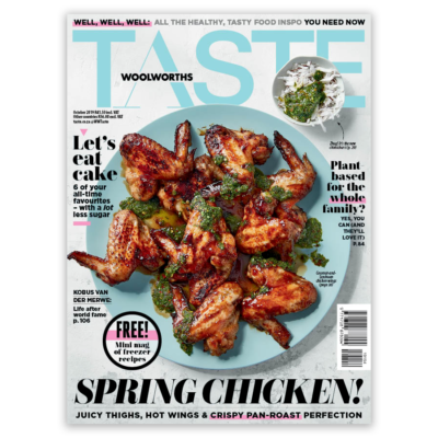 Put a spring in your step with TASTE's October issue