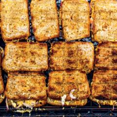 Three-cheese braaibroodjies