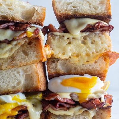 Jammy egg toastie