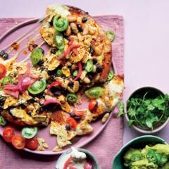 """Mexican nacho cheat's """"pizza"""""""