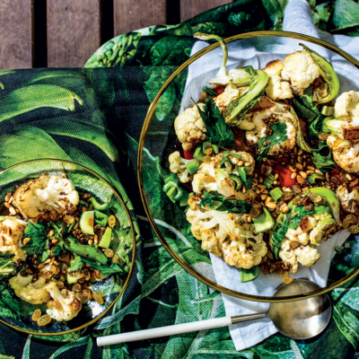Cauliflower-and-pine nut salad