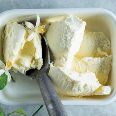 No-churn lemon ice cream