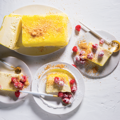 Pineapple-and-ginger semifreddo