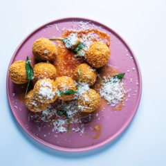 Cheat's risotto arancini