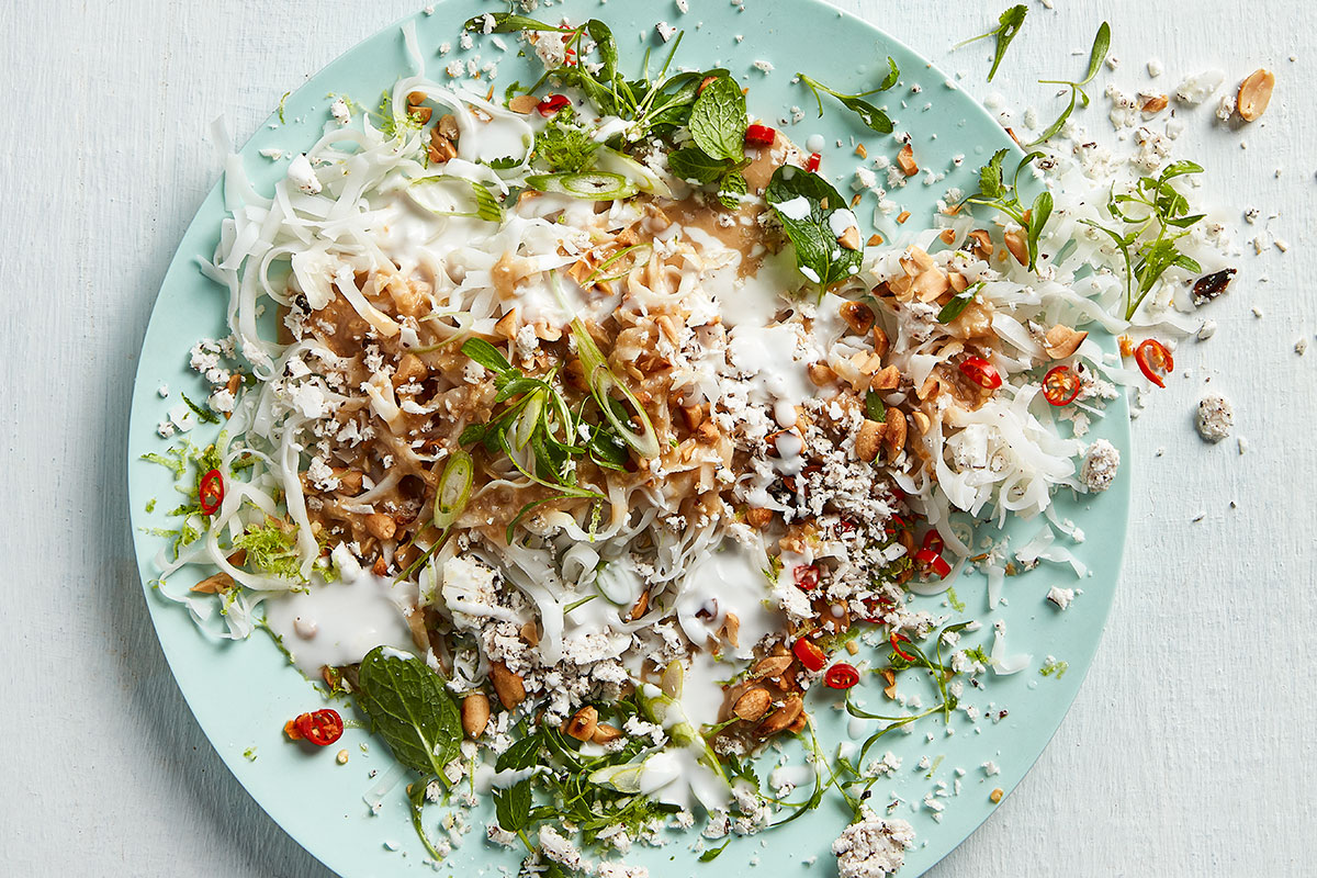 Coconut-and-miso noodles