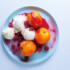 Easy cheat's peach melba