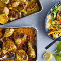 Easy chicken tray bake – 2 ways