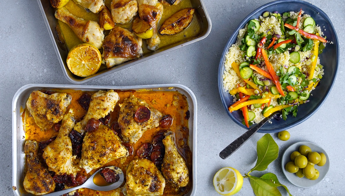 easy chicken traybake two ways