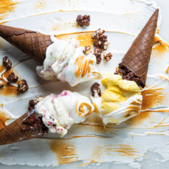 Meringue ice-cream cones