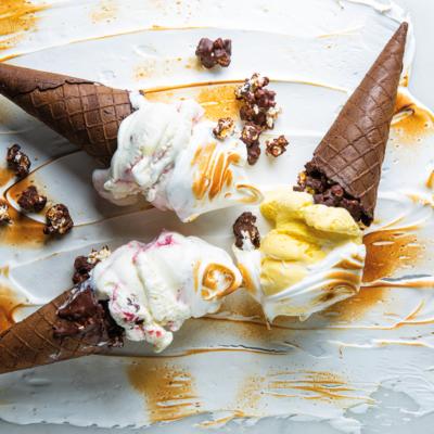 Meringue ice-cream cones