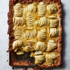 Reduced sugar rustic apple tart