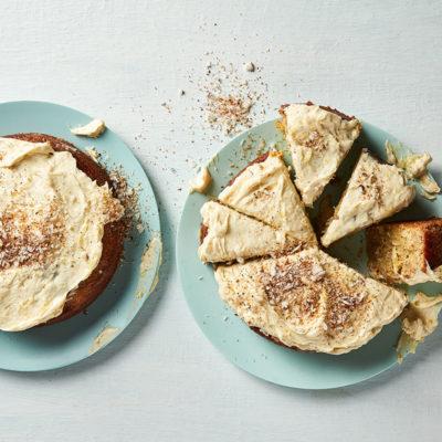 Coconut-and-banana three-milk cake