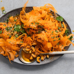 Crunchy cumin, coriander, cashew and carrot salad
