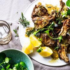 Lamb chops with rosemary-and-lemon