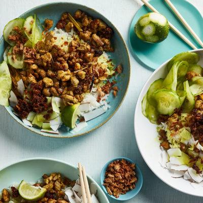 Pork fillet with coconut jasmine rice