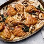 sherry-and-cream mushroom baked chicken