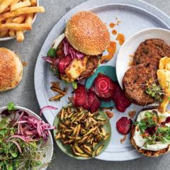 Build-your-own summer veggie burgers
