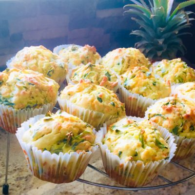 Baby Spinach and Cheddar Muffins