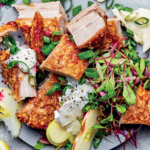 crunchy pork belly and apple salad with ranch dressing