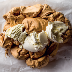 Gooey brown sugar pavlova