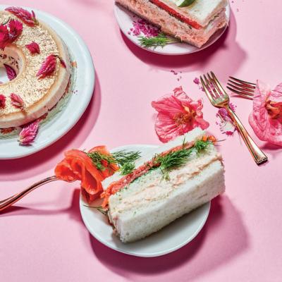 Salmon finger sandwiches