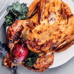 The perfect juicy braaied turkey