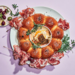 wreath bread with charcuterie