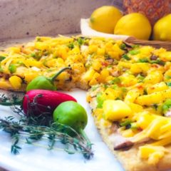Sweet Pineapple and Fresh Thyme Thin-Crust Pizza