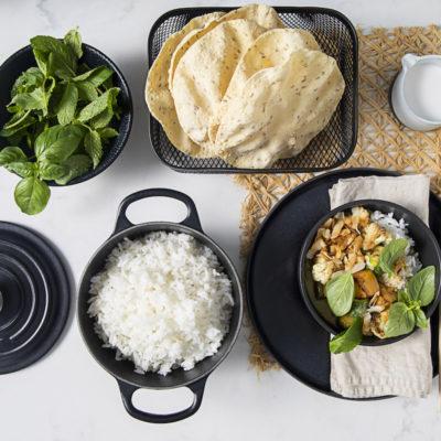Easiest-ever Thai green veg curry