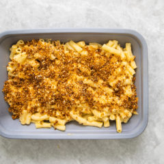 Baked crunchy cheesy macaroni