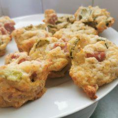 Cheese gherkin ham muffins