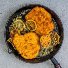 Chicken schnitzel piccata